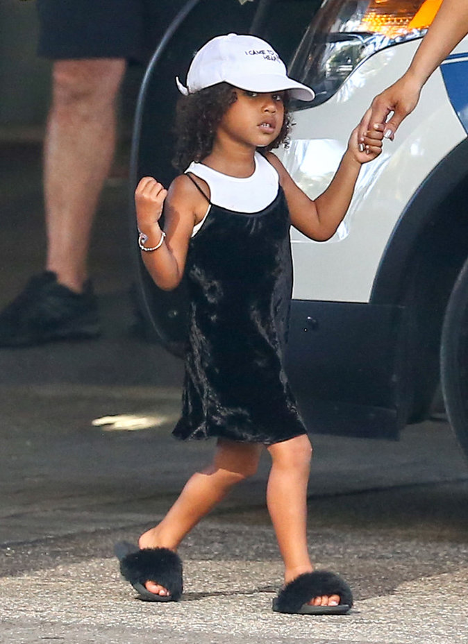 North West avec sa mère à Miami