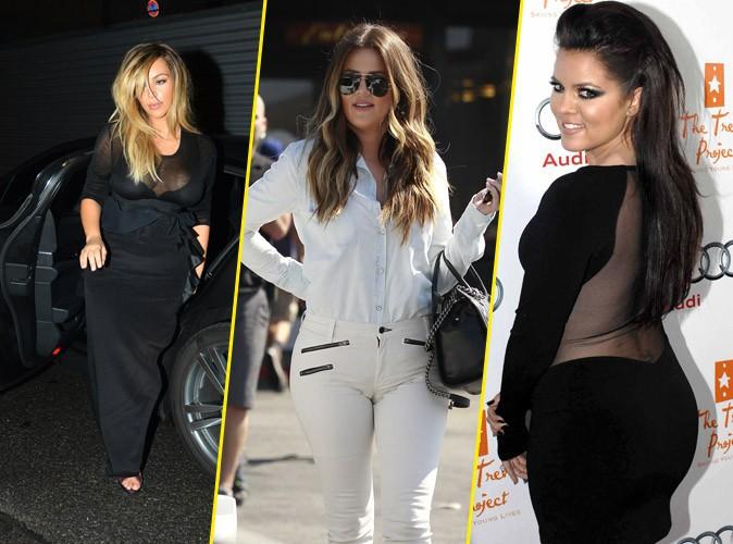 "Photos : Kim, Khloe, Kourtney Kardashian: toutes accros aux looks boudinés à effet ""tassant"" !"