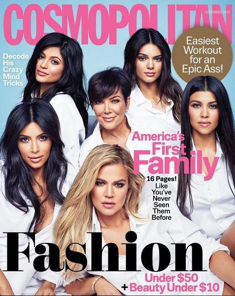 Le clan Kardashian Jenner en une de Cosmopolitan