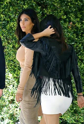 Kim et Kourtney Kardashian à Los Angeles le 1er septembre 2014
