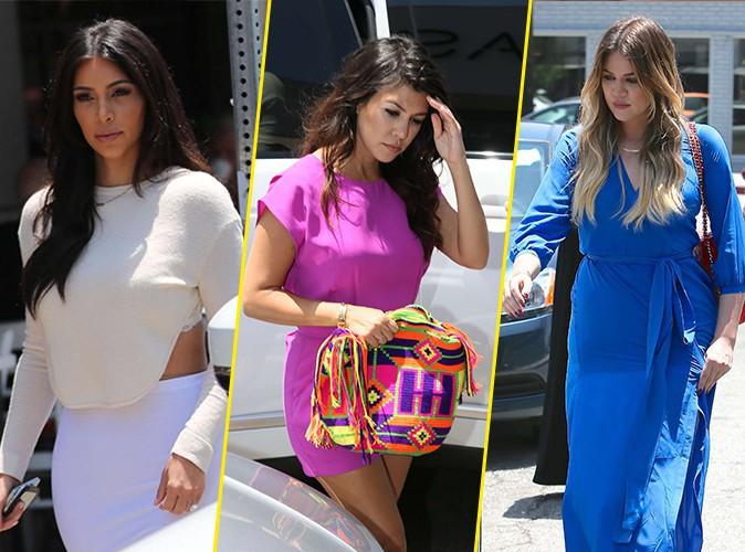 Kim, Kourtney et Khloé Kardashian à Los Angeles le 23 juin 2014