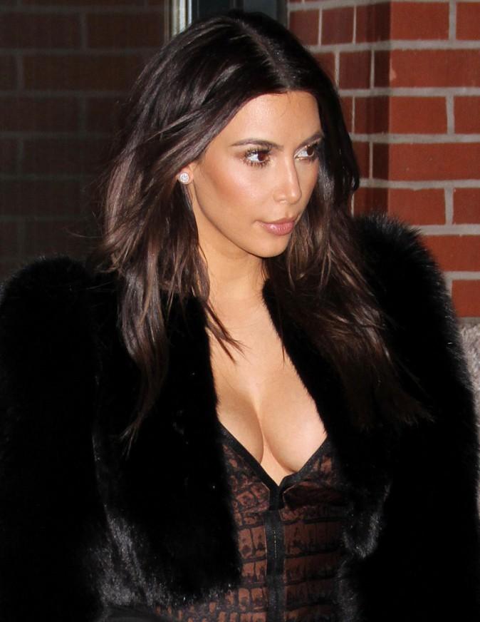 Kim Kardashian à New York, le 16 février 2014.