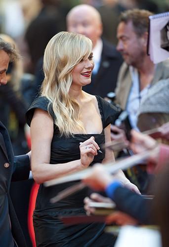 Kirsten Dunst à Londres le 13 mai 2014