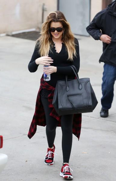 Khloe Kardashian à la sortie de son cours de sport à Los Angeles, le 30 janvier 2014.