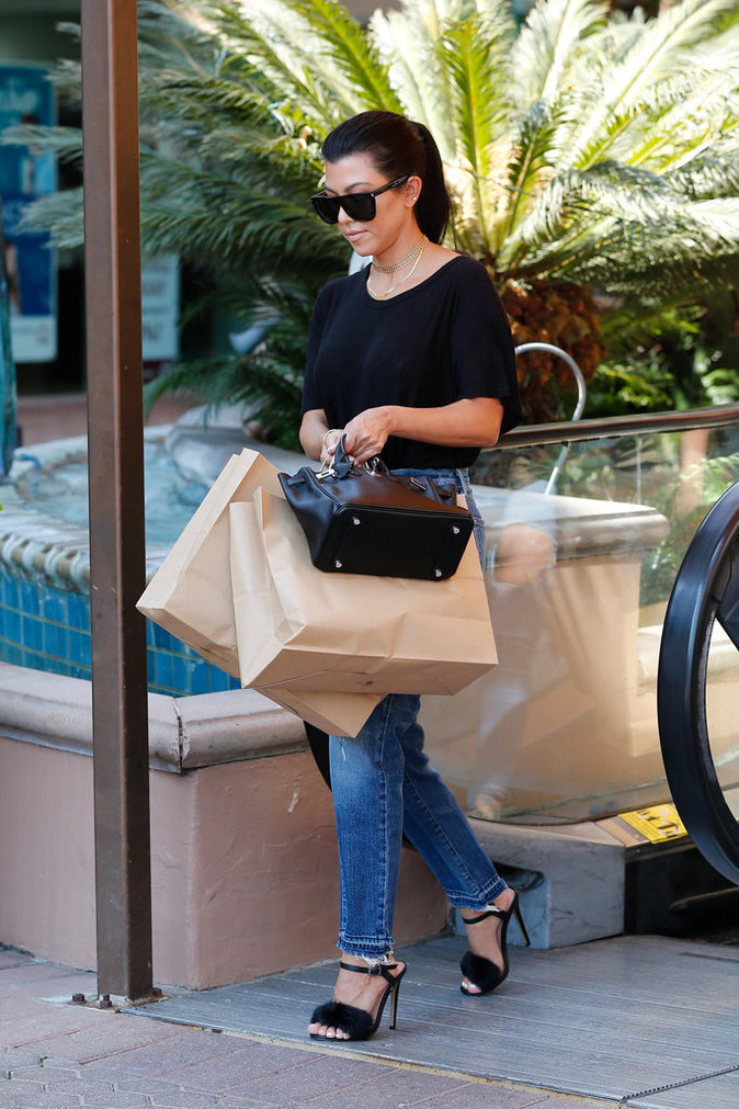 Kourtney Kardashian à Los Angeles le 23 août 2016
