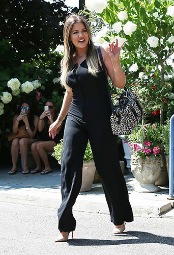 Khloé Kardashian à Southampton le 14 août 2014