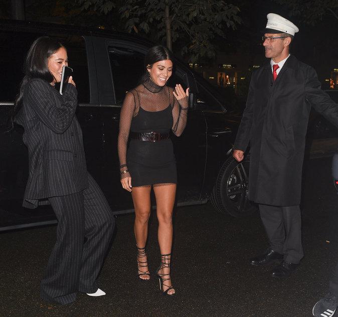 Kourtney Kardashian à Paris le 30 septembre 2016