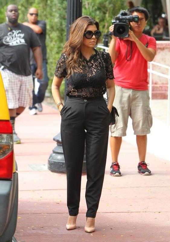 Kourtney Kardashian à Miami, le 10 décembre 2012.