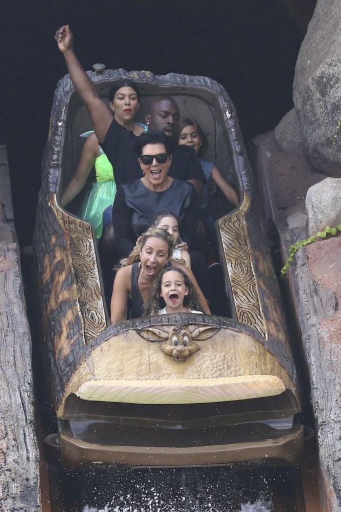Kim et Kourtney Kardashian, North West et Penelope Disick le 8 juillet 2015