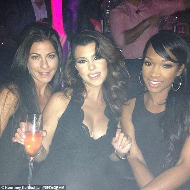 Kourtney Kardashian et ses copines au Bellagio à Las Vegas, le 31 août 2013.