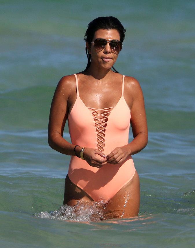 Kourtney Kardashian à Miami ce samedi 17 septembre