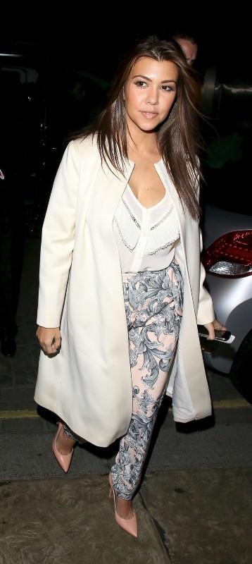 Kourtney Kardashian le 10 novembre 2012 à Londres