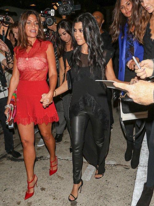 Photos : Kourtney Kardashian : en cuir, elle se dévergonde !