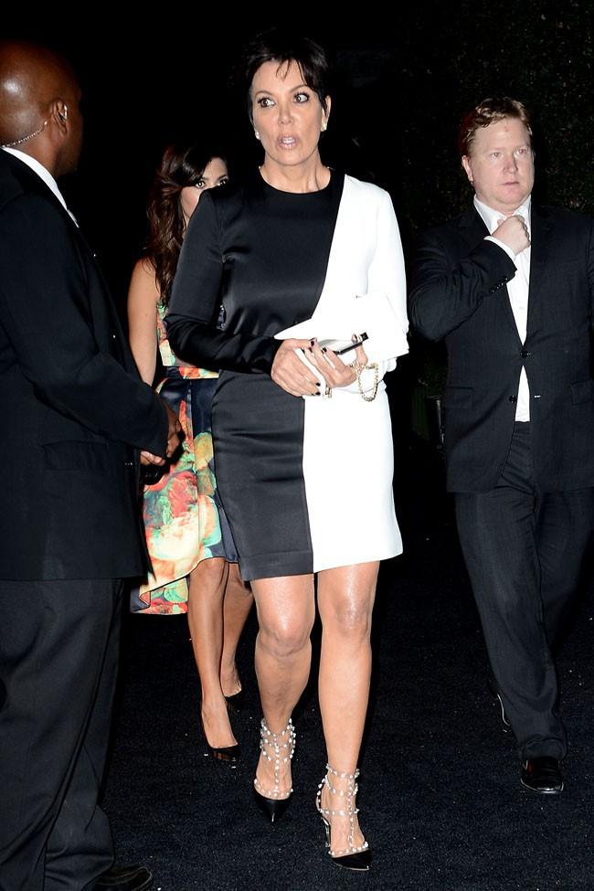 Kris Jenner à la soirée pre Emmy Awards organisée à Beverly Hills le 20 septembre 2013