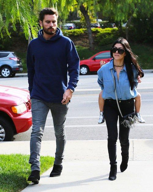 Photos : Kourtney Kardashian et Scott Disick (encore) réunis pour Penelope