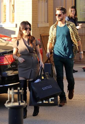 Kourtney Kardashian et Scott Disick à Los Angeles le 23 décembre 2013