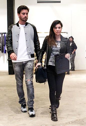 Kourtney Kardashian et Scott Disick à New-York le 5 novembre 2013