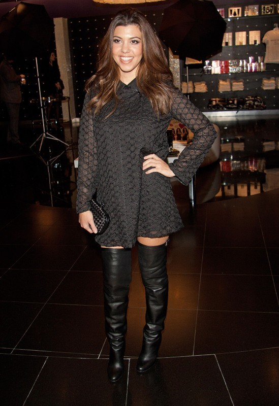 Kourtney Kardashian, Las Vegas, 19 janvier 2013