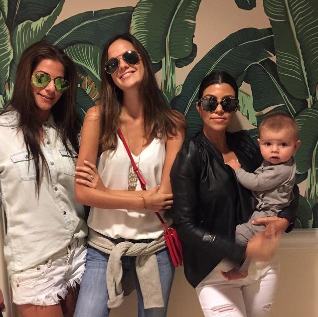 Kourtney Kardashian et Reign Aston Disick le 25 juin 2015