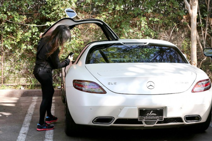 Kourtney Kardashian à Woodland Hills le 19 février 2014