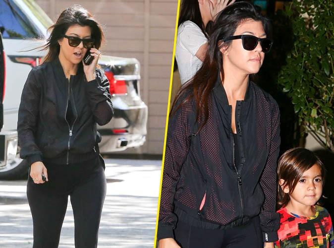 Kourtney Kardashian : look sportwear de jour comme de nuit pour son retour à L.A. !