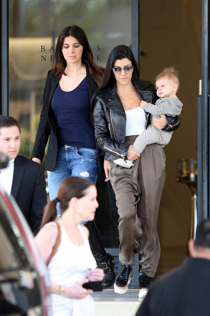 Kourtney Kardashian et Reign le 19 octobre 2015
