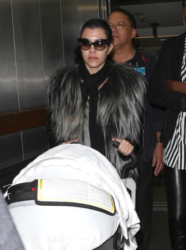 Kourtney Kardashian, Los Angeles, 16 janvier 2013.
