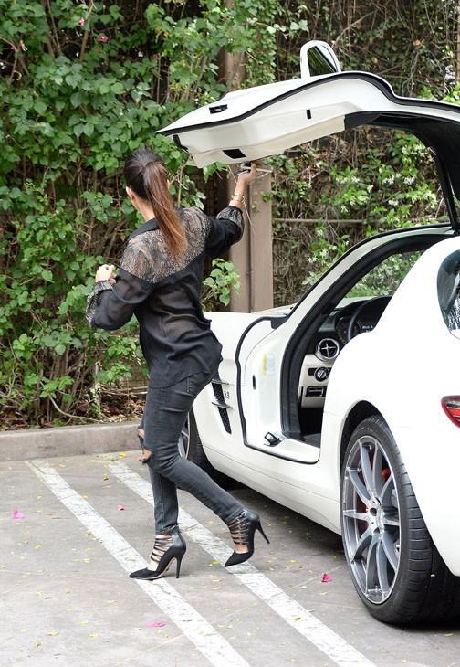 Kourtney Kardashian à Los Angeles le 25 avril 2014