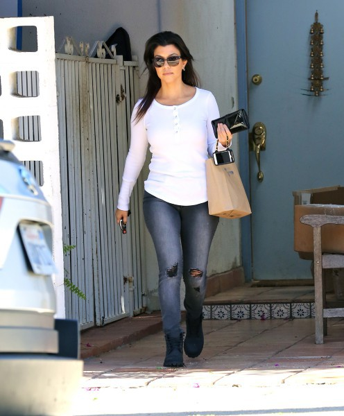 Kourtney Kardashian à Santa Monica, le 27 novembre 2013.