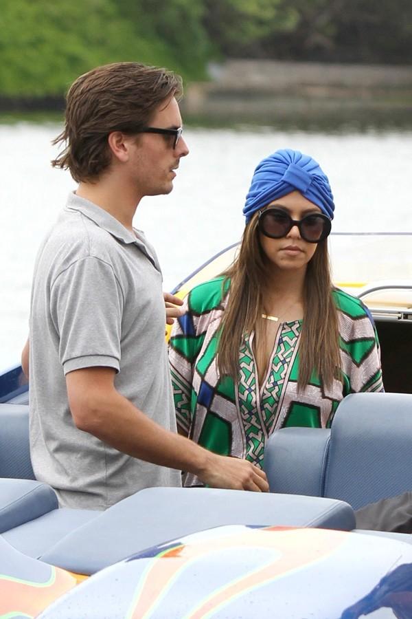 Kourtney Kardashian et Scott Disick en tournage à Miami le 25 septembre 2012