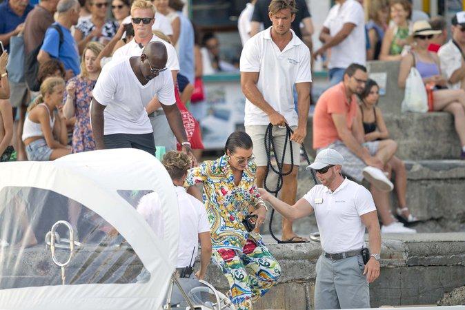 Kris Jenner et Corey Gamble à Positano (Italie) le 3 septembre 2016