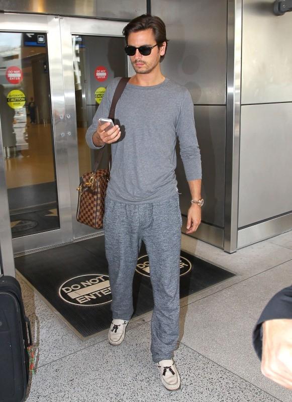 Scott Disick de retour en famille à Miami, le 14 novembre 2012.