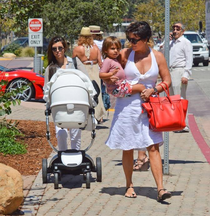 Kourtney Kardashian et Kris Jenner à Los Angeles le 1er septembre 2012