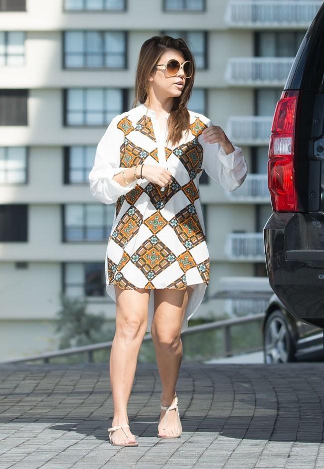 Kourtney Kardashian avec sa fille Penelope à Miami le 4 novembre 2012