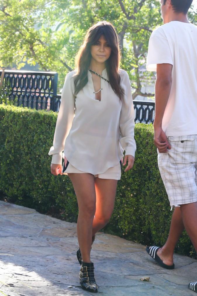 Kourtney Kardashian à Calabasas, le 19 août 2013.