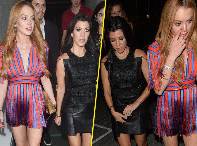 Photos : Kourtney Kardashian : Virée nocturne avec sa nouvelle meilleure amie Lindsay Lohan !