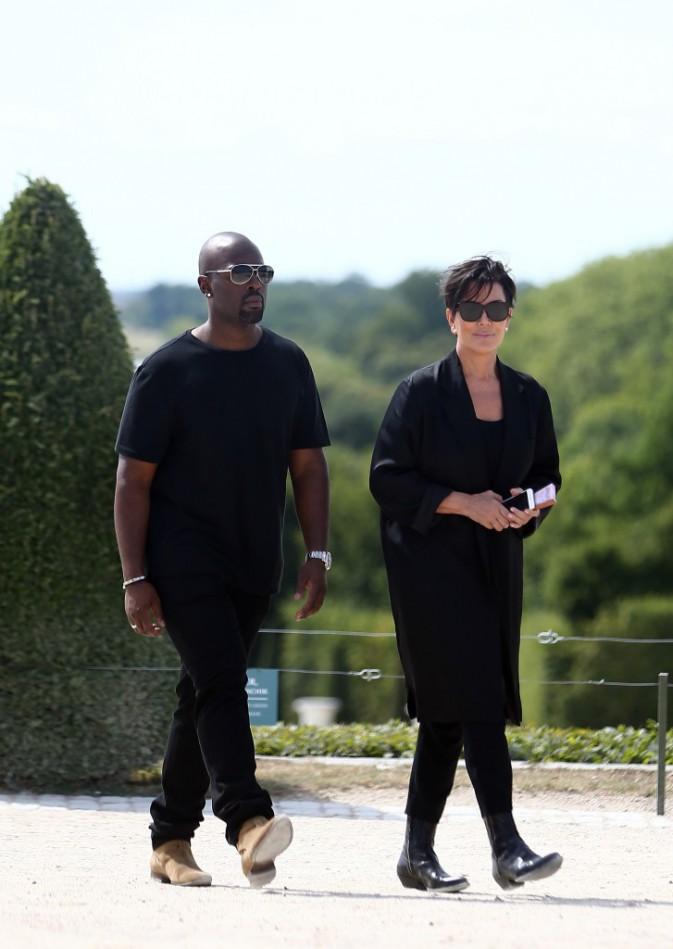 Kris Jenner à Versailles, le 28 juin 2015
