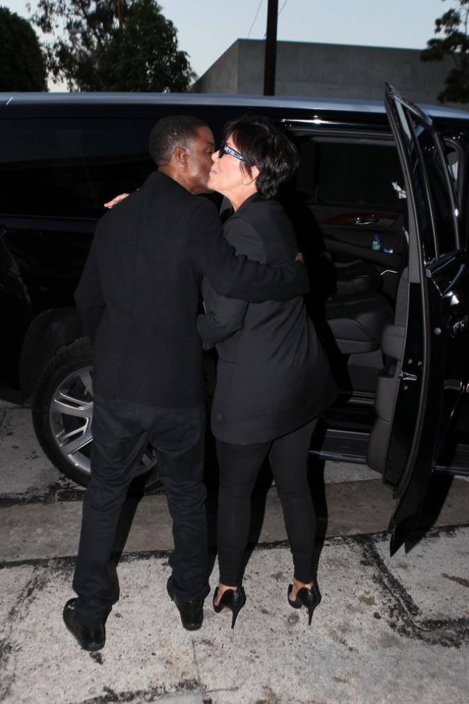 Photos : Kris Jenner : rayonnante et tout sourire pour aller dîner avec Chris Rock !