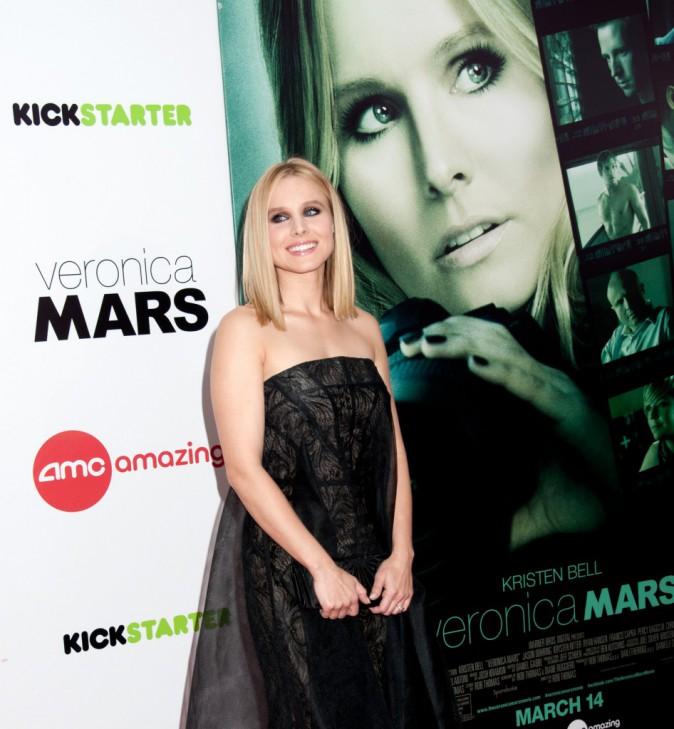 Kristen Bell : robe couture et regard charbonneux... Elle a mis le paquet pour la première new-yorkaise de