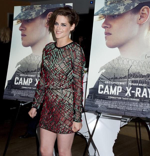 """Kristen Stewart à l'avant-première de """"Camp X-Ray"""" le 6 octobre à New-York"""