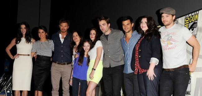 """Le casting de """"Twilight - chapitre 5"""" lors du Comic-Con 2012 à San Diego, le 12 juillet 2012."""