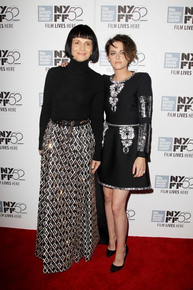 Kristen Stewart et Juliette Binoche le 8 octobre 2014