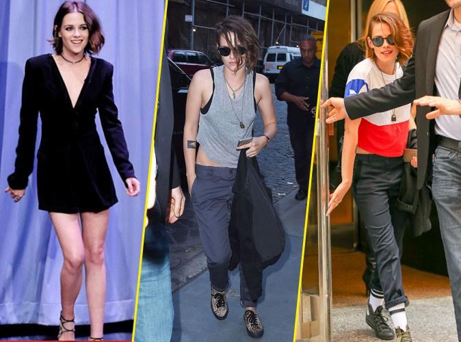 Kristen Stewart, entre look girly et grunge, elle hésite !