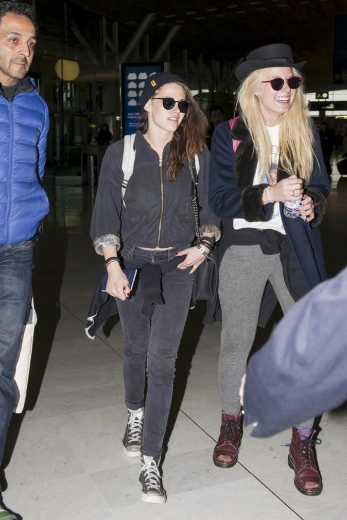 Kristen Stewart à l'aéroport Charles de Gaulle le 5 février 2014