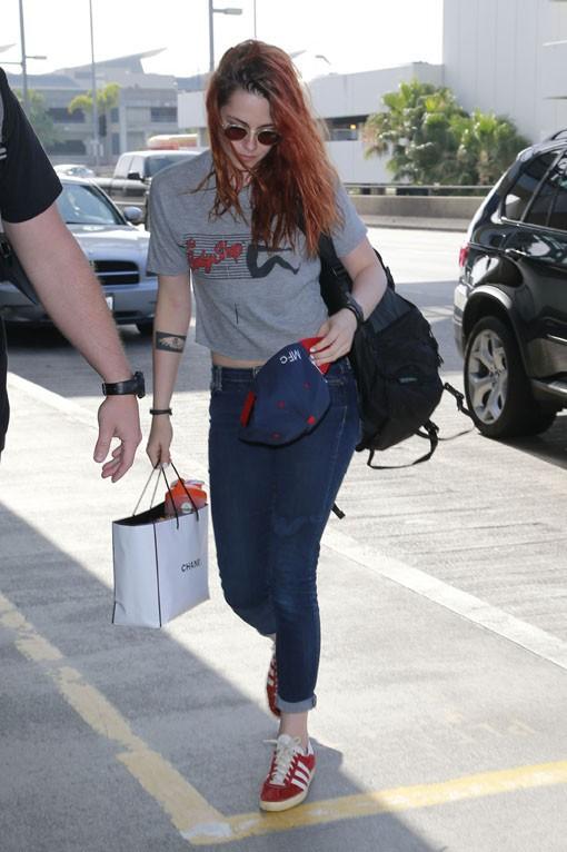 Kristen Stewart à l'aéroport LAX de Los Angeles le 27 mai 2014