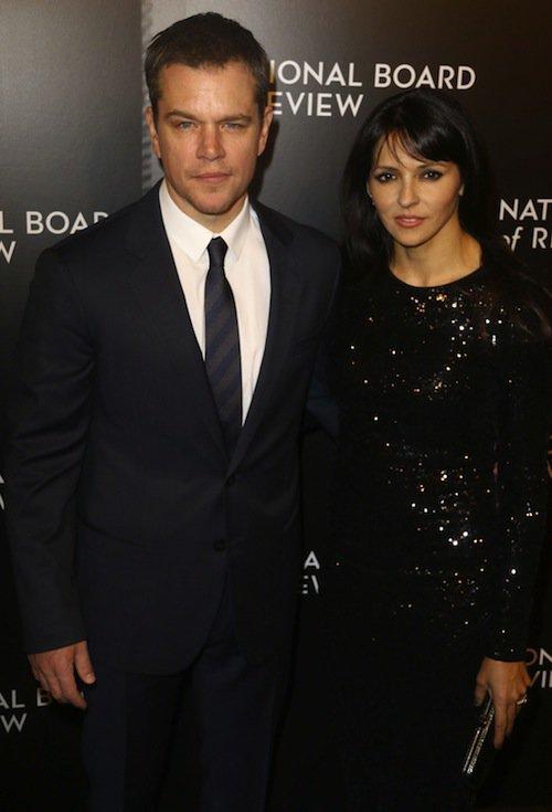 Matt Damon et sa femme à New York, le 5 janvier 2016