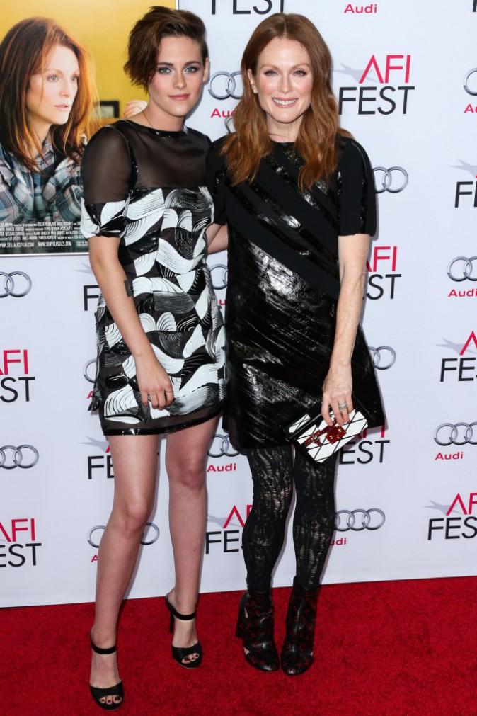 Kristen Stewart et Julianne Moore à Los Angeles le 12 novembre 2014