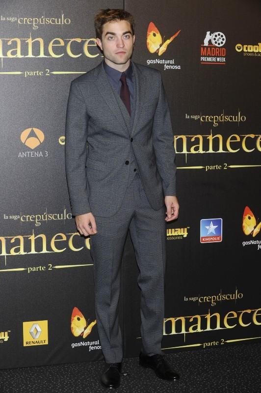 Robert Pattinson lors de l'avant-première de Twilight - Chapitre 5 à Madrid, le 15 novembre 2012.