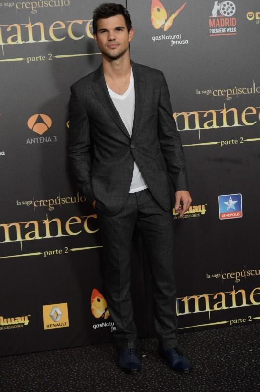 Taylor Lautner lors de l'avant-première de Twilight - Chapitre 5 à Madrid, le 15 novembre 2012.
