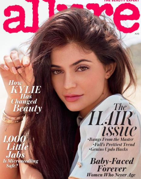 Kylie Jenner en couverture du magazine Allure